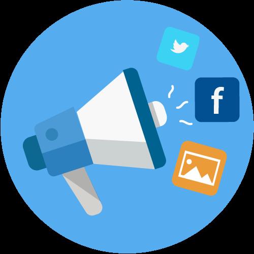 social mediar marketing icon